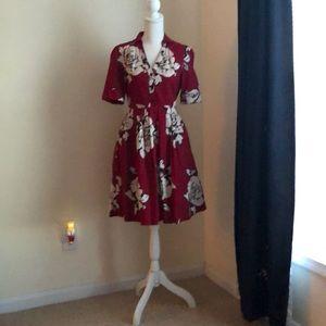 Anthropologie Maeve Vintage-Style Floral Dress